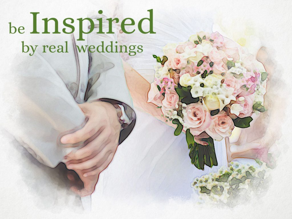 real weddings for inspiration