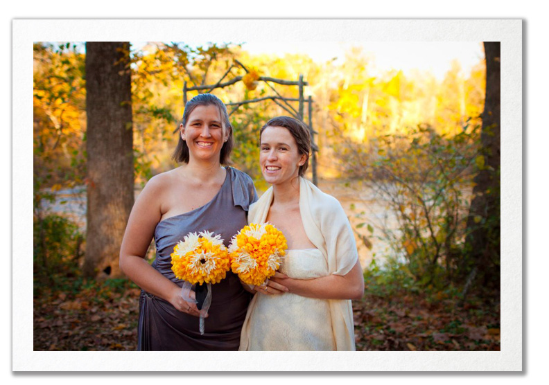 This intimate wedding shows how lovely a natural setting can be-especially in the fall! Jess and Charles kept it simple and got married on the river at the Virginia Outdoor Center in Fredericksburg
