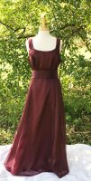Burgundy bridesmaid's dress